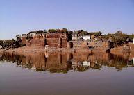 Ahilya Fort across the Narmada River, Maheshwar