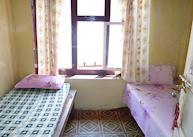 Typical tea house lodge bedroom, Nepal
