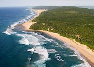 Aerial view of Thonga Beach Lodge