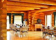 The dining room at Echo Valley Ranch
