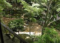 Garden view at the Iwaso Ryokan, Miyajima