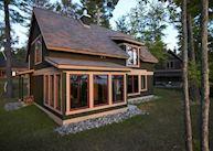 A cottage at Le Village Windigo, Baskatong Lake