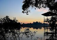 First light at Abai Jungle Lodge, Kinabatangan River