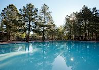 The swimming pool at the Little America Hotel