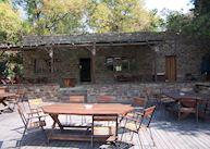 Bar and Deck at Kunene River Lodge
