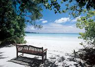 Beach at Les Villas D'Or, Praslin