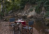 Dinner by the river bed