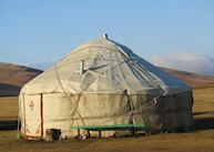 Traditional Yurt on the South Shore, Song Kol Lake