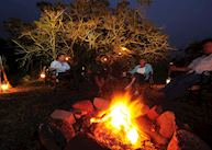 Stories around the campfire, Sanbona Explorer Camp
