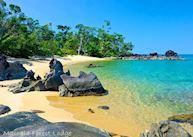 The beach at Masoala Forest Lodge