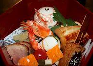 Dinner during the Geisha Night at the Gion Hatanaka Ryokan