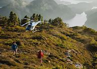 Heli-hiking at Nimmo Bay Wilderness Resort