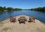 Morning coffee on the river, KaingU Lodge, Kafue National Park