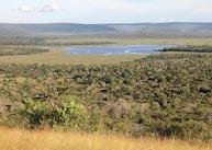 Hilltop views over Lake Mburo National Park