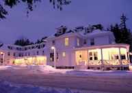 Omni Bretton Arms Inn in the snow, Bretton Woods