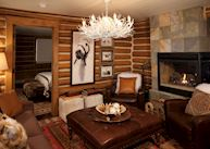 Cabin living room at the Lodge & Spa at Brush Creek Ranch