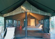 Safari tent, Paperbark Camp, Jervis Bay