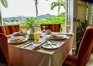 Breakfast with a view, Blue Horizons Garden Resort