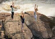 Yoga at Le Baluchon Eco Resort, Saint Alexis des Monts