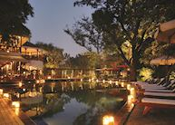 Pool by night, Belmond Governor's residence