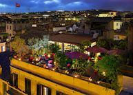 Roof terrace, Inn at the Spanish Steps, Rome