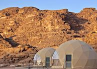 Martian tents at Sun City Camp, Wadi Rum