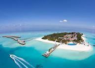 Velassaru Island, Aerial View