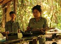 Hike and cooking demonstration in the rainforest