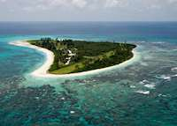 Aerial View of Bird Island, Bird Island Lodge, Bird Island