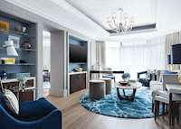 Harmony Suite living room at The Langham , Hong Kong