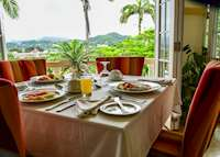 Breakfast with a view, Blue Horizons Garden Resort