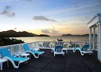 Sun deck at L'Archipel, Praslin