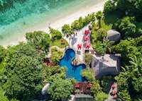Aerial view, Maia Resort & Spa, Mahe