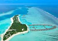 Aerial view, Niyama, Maldive Island