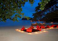 Beach dinner, The Andaman, Langkawi
