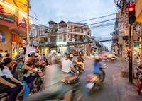 Vespas in Saigon