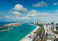 Aerial View of Corniche, Abu Dhabi, United Arab Emirates