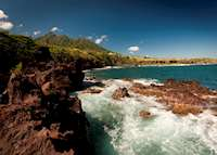 Black rocks of St. Kitts, Saint Kitts & Nevis