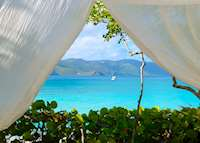Beach Cabana, Guana Island, British Virgin Islands, Guana Island