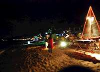 Bophut beach at night, Koh Samui