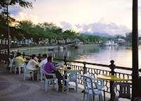 Waterfront cafe in Kuching, Sarawak
