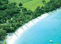 White Bay Aerial View, Guana Island, Guana Island