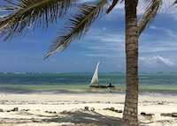 Dhow boat sailing by Baraza Resort