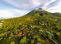 Aerial view of Nevis, Saint Kitts & Nevis