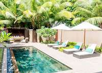 Beach villa pool, Constance Ephelia Resort, Mahe