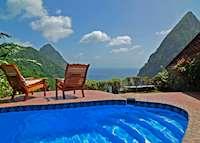 Plunge pool, Ladera, Saint Lucia