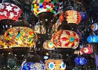 Arabian Lamps at Muscat Souk, Oman