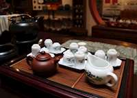 Traditional Tea Shop in Chinatown, Singapore