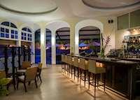 The bar at L'Archipel,Praslin