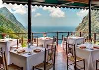 Dasheene restaurant, Ladera, Saint Lucia